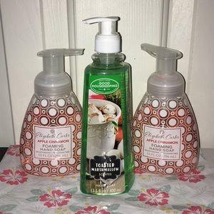 New Lot Of 3 Hand Soap Marshmallow Apple Cinnamon